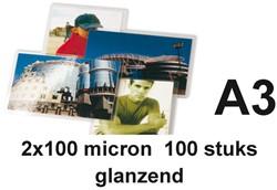LAMINEERHOES GBC A3 2X100MICRON 100 STUK