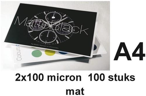 LAMINEERHOES GBC A4 2X100MICRON MAT 100 STUK