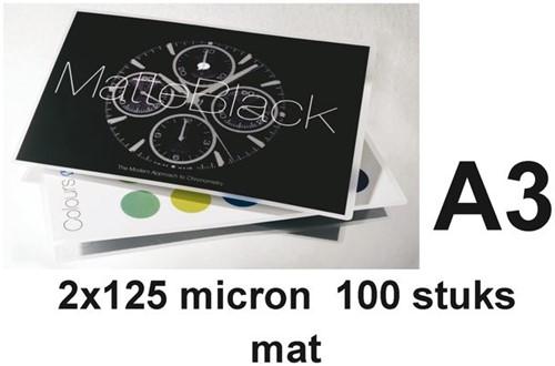 LAMINEERHOES GBC A3 2X125MICRON MAT 100 STUK