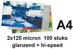 LAMINEERHOES GBC A4 HI-SPEED 2X125MICRON 100 STUK