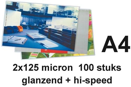 LAMINEERHOES GBC A4 HI-SPEED 2X125MICRON 100 STUK-2