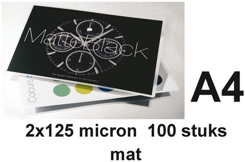 LAMINEERHOES GBC A4 2X125MICRON MAT 100 STUK