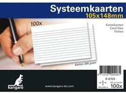 SYSTEEMKAARTEN A6 105x148MM 100 STUKS 100 STUK