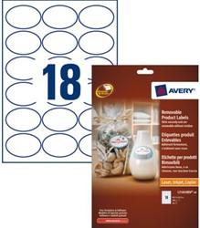 ETIKET AVERY L7101REV-20 63.5X42.3MM WIT 360ST 20 STUK