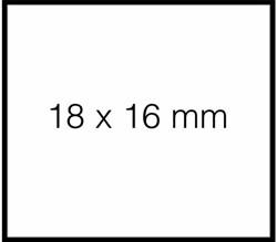 PRIJSETIKET SATO DUO 16 PERM WIT TBV PB216 1500 ETIKET