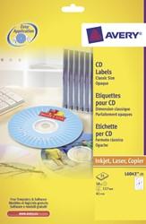 ETIKET AVERY CD L6043-25 50ST 25 VEL