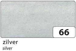 ZIJDEVLOEIPAPIER FOLIA 50X70CM 20G NR 66 ZILVER 5 VEL