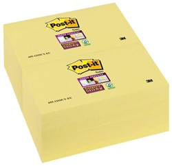 MEMOBLOK 3M POST-IT 655-SSY 76X127MM SS GEEL 90 VEL
