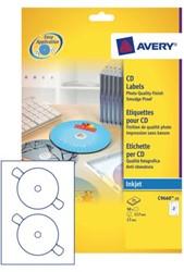 ETIKET AVERY CD C9660-25 HOOGGLANS 50ST 25 VEL