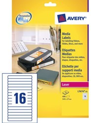ETIKET AVERY L7674-25 145X17MM VIDEO 400ST 25 VEL
