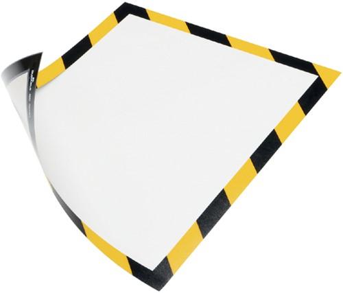 DURAFRAME SECURITY DURABLE A4 MAGNEET GEEL/ZWART 5 Stuk