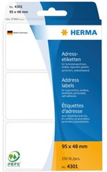 ETIKET HERMA ADRES 4301 95X48MM 250ST LEPORELLO 1 PAK