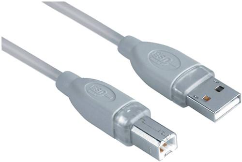 KABEL HAMA USB A-B 1.8M GRIJS 1 Stuk