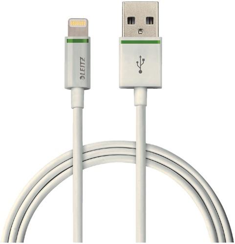 KABEL LEITZ USB LIGHTNING-A 2METER WIT 1 Stuk