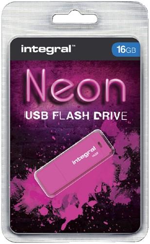USB-STICK INTEGRAL FD 16GB NEON ROZE 1 Stuk