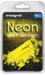 USB-STICK INTEGRAL FD 16GB NEON GEEL 1 STUK