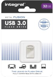 USB-STICK INTEGRAL FD 32GB METAL FUSION 3.0 1 STUK