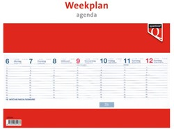 WEEKPLANAGENDA 2019 QUANTORE 1 STUK