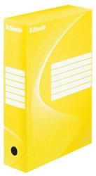 ARCHIEFDOOS ESSELTE BOXY 80MM GEEL 1 STUK