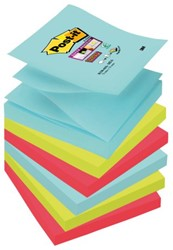 MEMOBLOK 3M POST-IT Z-NOTE S330 SUPER STICKY 76X76MM MIAMI 6 STUK
