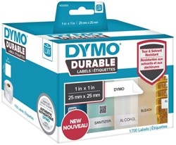 LABEL ETIKET DYMO DURABLE 19330 25MMX25MM WIT 1 ROL