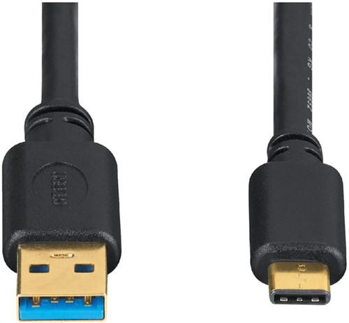 KABEL HAMA USB C-A 3.1 1.8METER ZWART 1 Stuk