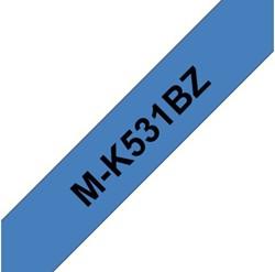 LABELTAPE BROTHER MK-531BZ 12MMX8M BLAUW/ZWART 1 STUK