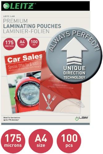 LAMINEERHOES LEITZ ILAM A4 2X175MICRON 100 STUK-2
