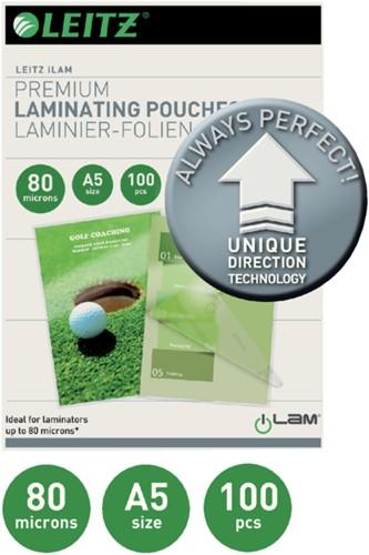 LAMINEERHOES LEITZ ILAM A5 2X80MICRON 100 STUK-2