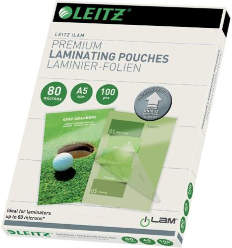LAMINEERHOES LEITZ ILAM A5 2X80MICRON 100 STUK
