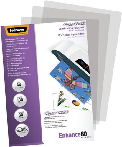 LAMINEERHOES FELLOWES SUPERQUICK A4 2X80MICRON 100 STUK-3