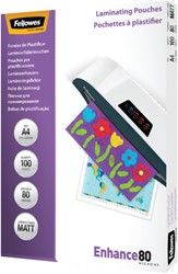 LAMINEERHOES FELLOWES A4 2X80MICRON MAT 100 STUK
