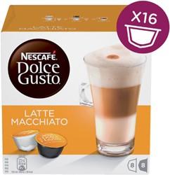 DOLCE GUSTO LATE MACCHIATO 16 CUPS / 8 DRANKEN 16 CUP