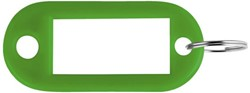 SLEUTELLABEL PAVO PLASTIC DONKERGROEN 100 STUK