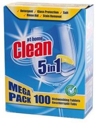 VAATWASTABLET AT HOME CLEAN 5-IN-1 100 STUK