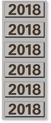 RUGETIKET ELBA 2018 JAARETIKET GRIJS 120 STUK