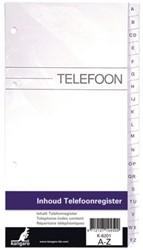 VULLING TELEFOONALBUM KTC K-6201 A-Z 4R 1 STUK