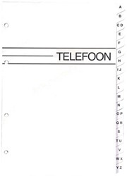 VULLING TELEFOONALBUM KANGARO KTC LARGE A-Z 4RINGS 1 STUK