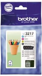 INKCARTRIDGE BROTHER LC-3217 ZWART + 3 KLEUREN 4 STUK