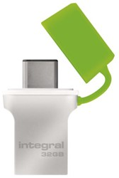 USB-STICK INTEGRAL FD 32GB 3.0 TYPE C ZILVER 1 STUK