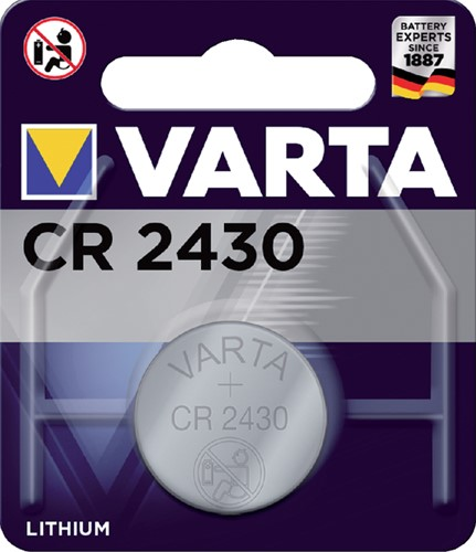 BATTERIJ VARTA CR2430 LITHIUM 1 Stuk
