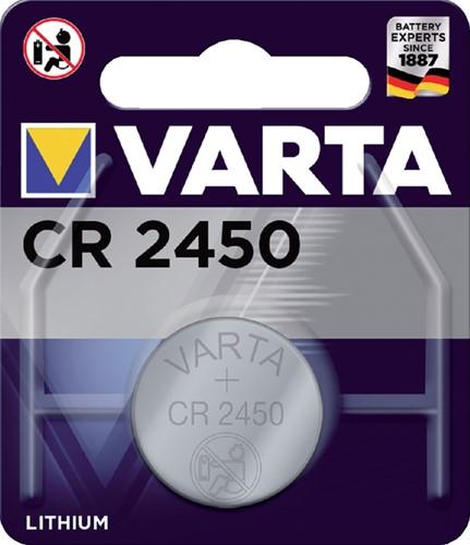 BATTERIJ VARTA CR2450 LITHIUM 1 Stuk