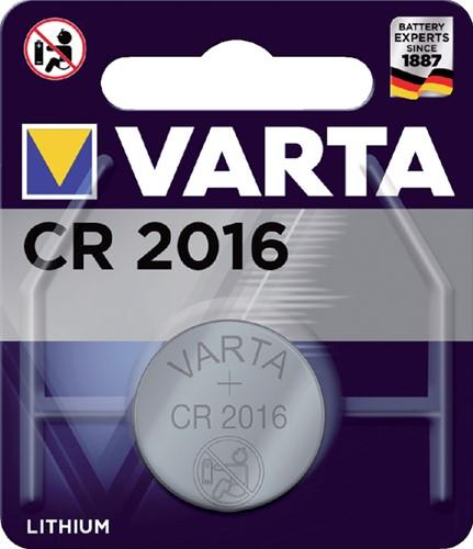 BATTERIJ VARTA CR2016 LITHIUM 1 Stuk