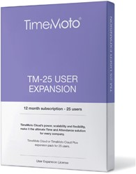 SAFESCAN TIMEMOTO TM-25 CLOUD USER EXPANSION 1 STUK
