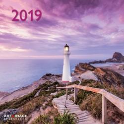 KALENDER 2019 TENEUES ART&IMAGE LIGHTHOUSES 30X30CM 1 STUK