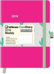 AGENDA 2019 TENEUES COOL 16X22CM FUCHSIA/CACTUS 1 STUK