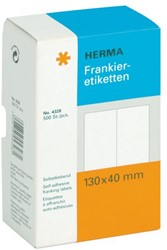 ETIKET HERMA FRANKEER 4328 130X40MM DUBBEL 500ST 250 VEL