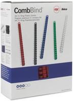 BINDRUG GBC 16MM 21RINGS A4 ROOD 100 STUK-3