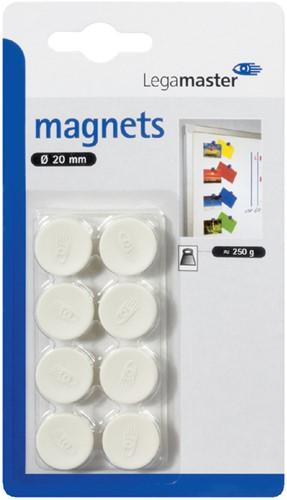 MAGNEET LEGAMASTER 20MM 250GR WIT 8 Stuk