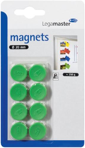 MAGNEET LEGAMASTER 20MM 250GR GROEN 8 Stuk